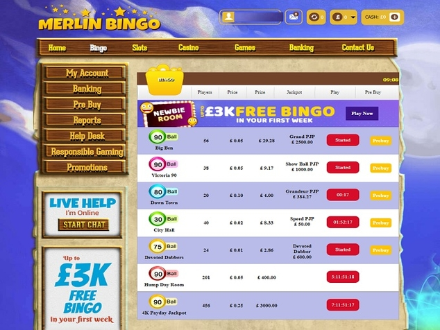 Merlin Bingo - Closed 05/2019