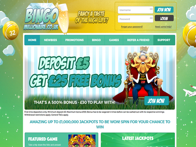 Bingo Millionaire - BLACKLISTED Home Page