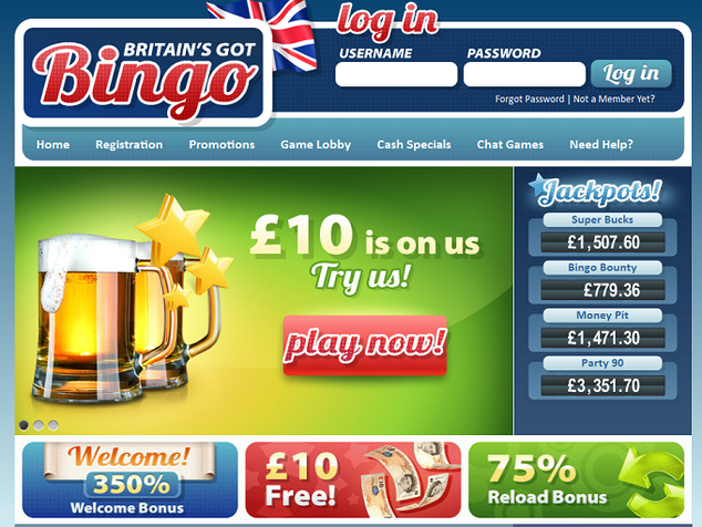 Britain's got Bingo Home Page